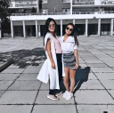 My fashionable friend (left) and I rocking out OOTDs during the summer! My shorts are from H&M